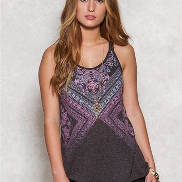 Braided Strap Graphic Tank