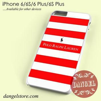 Ralph Lauren red white strips Phone case for iPhone 6/6s/6 Plus/6S plus