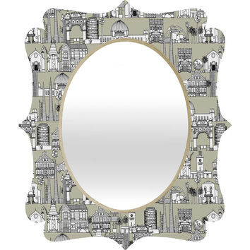 Sharon Turner Los Angeles Linen Quatrefoil Mirror