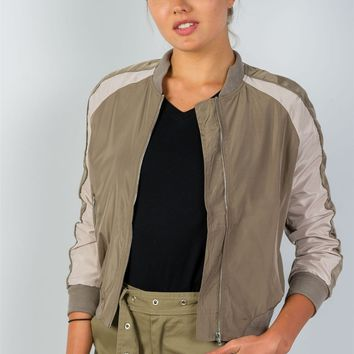 Ladies Long Sleeve Bomber Jacket