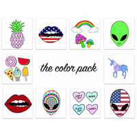 Color Pack Temporary Tattoos