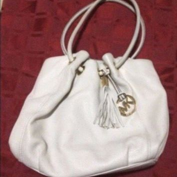 ONETOW Mk Michael Kors Ring Leather Shoulder Bag
