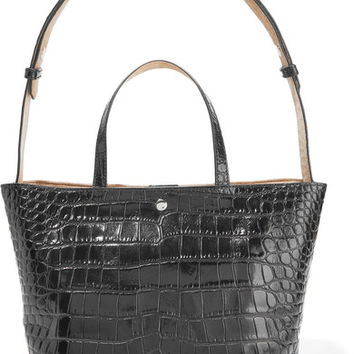 Elizabeth and James - Eloise croc-effect leather tote