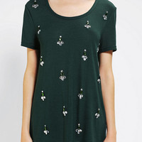 Urban Outfitters - Coincidence & Chance Gem Embellished Tunic Tee