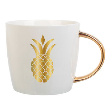 Slant Collections- 14 Oz. Pineapple Mug