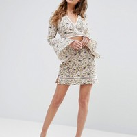 Boohoo Floral Skirt With Ladder Insert Co Ord at asos.com