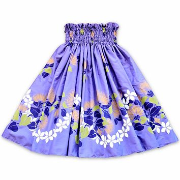 ilima purple single hawaiian pa'u hula skirt
