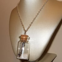 Bottle Necklace Spoonful of Sugar Quirky by flonightingales