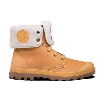 Palladium Baggy - Amber Leather Rugged Lace-Up Boot