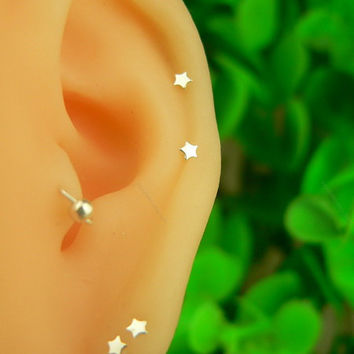 silver earring stud silver earrings silver earings birthday gift anniversary earring tragus earring girls earring