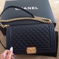 shosouvenir : CHANEL Women Fashion Shopping Leather Multicolor Shoulder Bag Satchel Crossbody