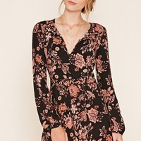 Contemporary Floral Print Dress