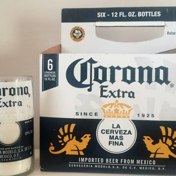 6-Pack Special Corona Cerveza Classic Beer Bottle Soy Candles