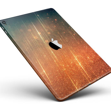 "Orange Scratched Surface with Gold Beams Full Body Skin for the iPad Pro (12.9"" or 9.7"" available)"