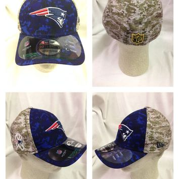 NFL New England Patriots New Era OFFICIAL OnField Salute To Service Sideline Hat