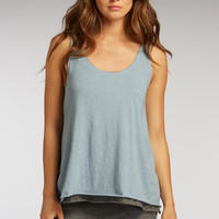 Indigenous Double Layered Tank in Faded Denim