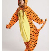 Disney Tigger Animal Onesuit Kigurumi Costume Adult Pajamas