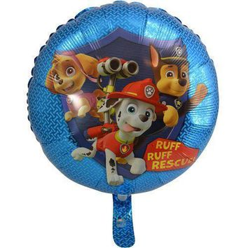 """Party Favors Paw Patrol 18"""" Foil Balloon- 6 Pack"""