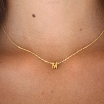 Personalized Letter Necklace-14K GoldFill Necklace- Initial Necklace-Monogram Necklace- Custom Name Necklace- Bridesmaids Gifts