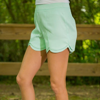 Candy Color Elastic Waist Shorts 10286