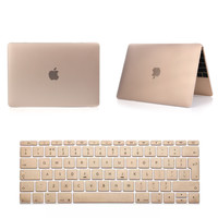 Notebook Sleeve Laptop Case Frosted Matte Gold Champagne Pro 13 15 Air 11 13 Retina 13 15 Protective Shell For Macbook Cases