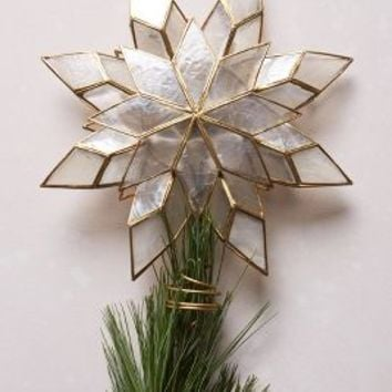 Capiz Star Tree Topper by Anthropologie Gold One Size Sweaters