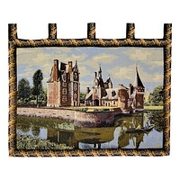 Tache Victorian Style Woven Summertime Manor Tapestry Wall Hanging (TAWH-3562HL2)