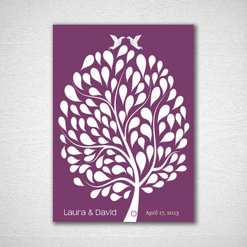 Unique Wedding Guestbook Wedding Guest Book Tree Guest Book Alternative Guestbook Print Wedding Guestbook Print for 100 Guest Wedding Poster
