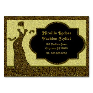 Chic Fashion Stylist Pack Of Chubby Business Cards