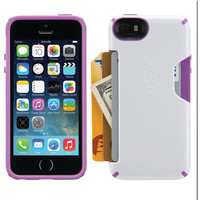 SPECK 71080-B972 iPhone(R) 5/5s CandyShell(R) Card Case (White/Revolution Purple)