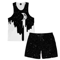 Dripping Moon Tank And Shorts Rave Outfit
