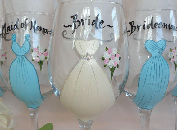 personalized hand painted bridesmaid from samdesigns22 on etsy