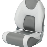 692 Pro-Fish Two Tone Folding Seat, Gray-Dark Gray - Garelick