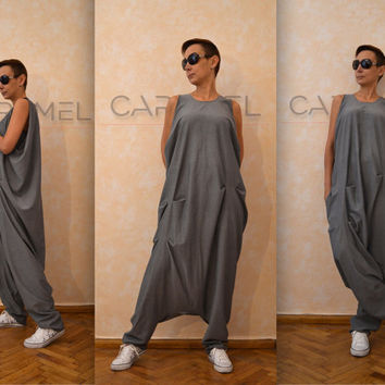 Jumpsuit/Loose Jumpsuit/Woman Jumpsuit/Drop Crotch Pants/Harem Pants/Pants Baggy/Casual Jumpsuit by CARAMEL fs - SW3815