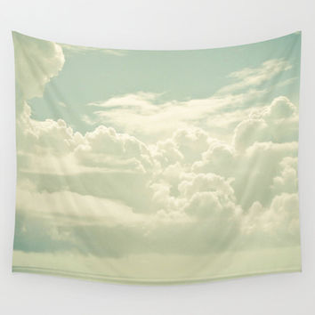 As the Clouds Gathered Wall Tapestry by Cassia Beck