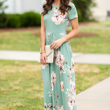 Here For You Maxi Dress, Mint