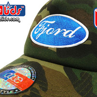 "smARTpatches Truckers Old School ""Fjord"" Racing Iceland Norway Trucker Hat DJ Hip Hop Car Cap Camo Curved Bill Patch by lidstars headwear"