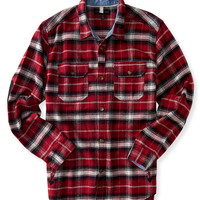 Long Sleeve Plaid Textured Shirt Jacket