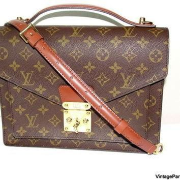 PEAPYD9 Vintage Louis Vuitton Monceau Cross Body Bag
