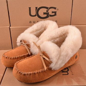 Ugg Women Fashion Wool Snow Boots Calfskin Shoes-12