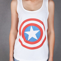 Captain America Women tank top size S, M, L, XL