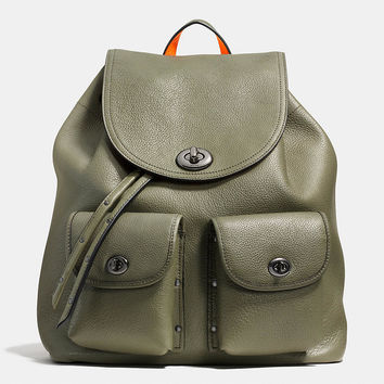 Turnlock Tie Rucksack in Neon Colorblock Leather
