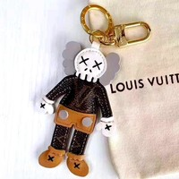 Free shipping-LV new tide brand doll keychain