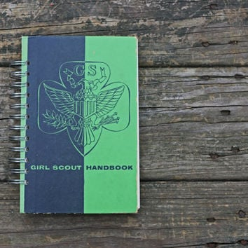 book journal - Girl Scout Handbook - notebook journal gift for her