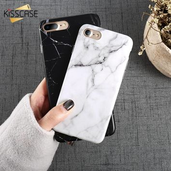 KISSCASE Marble Case For iPhone X 10 8 7 6s 6 5s 5 SE Soft Silicon Cover For iPhone 8 7 6s 6 Plus X Cases Phone Accessories Capa