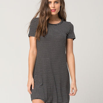 FULL TILT Striped Crew T-Shirt Dress | Short Dresses