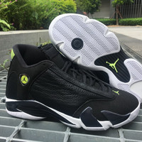 "Air Jordan 14 ""Indiglo"" AJ14 Nike Basketball shoes"