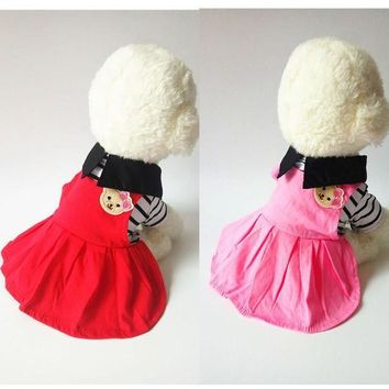 ESBON Cute Dog Dress Summer Princess Skirt Small Dog Clothes Chihuahua Puppy Pet Dog Clothing Costume Poodle Yorkies Shih Tzu
