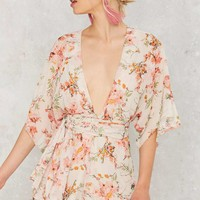 Nasty Gal Branch Out Floral Romper