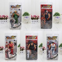 """5 styles 7"""" 18CM Street Fighter IV Survival Model Ken Ryu Guile Action Figure Toy"""